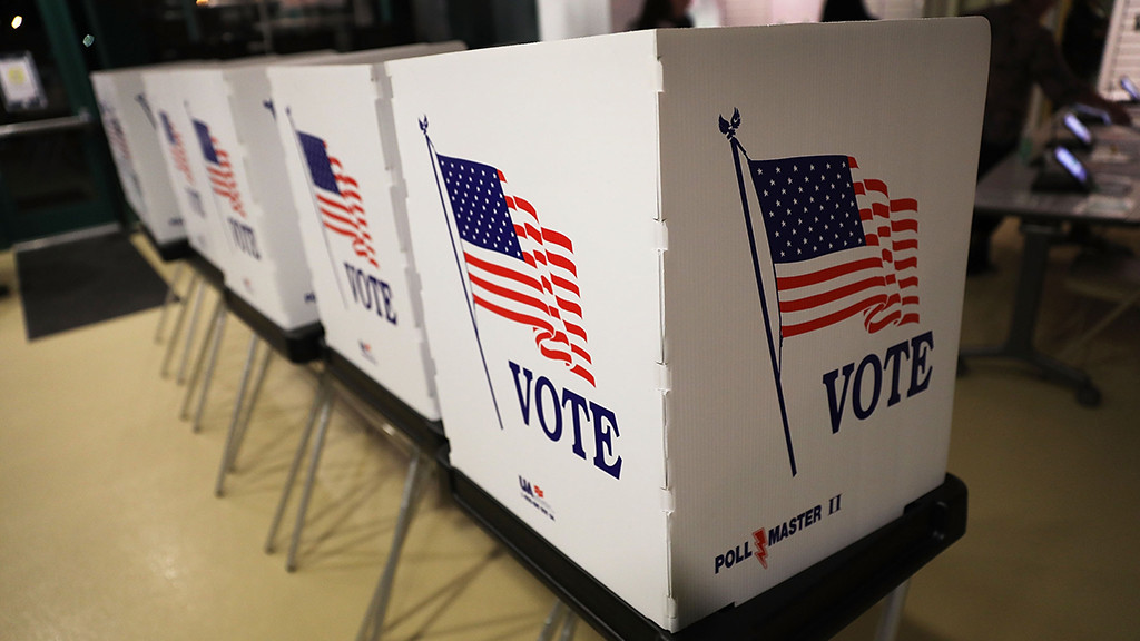 Voting booth. (Credit: CBS New York)