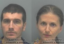 Ryan O'Leary and Sheila O'Leary. (Credit Lee County Sheriff's Office.)