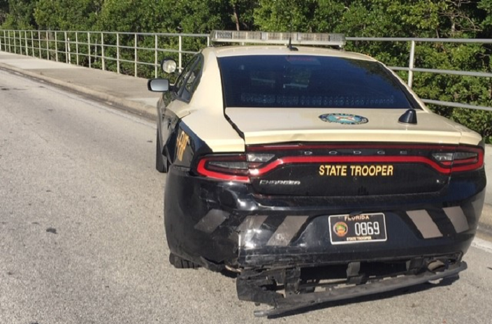 Crash involving Michelson Fleurant, 35, on Wednesday afternoon. (Credit: FHP)