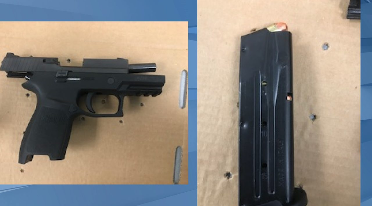 Gun recovered by Lee County deputies from 12-year-old student at Harns Marsh Middle School in Buckingham. (Credit: Lee County Sheriff's Office)