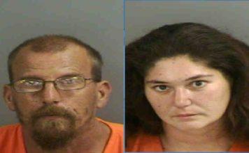 Mugshots of Ronald Everwine, 46, and Jennifer Lynn Everwine, 31. (Credit: Collier County Sheriff's Office)