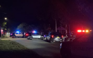 Large police presence in Fort Myers neighborhood Tuesday evening. (Credit: WINK News)