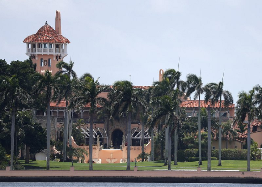 FILE - President Donald Trump's Mar-a-Lago estate is shown in a Wednesday, July 10, 2019 file photo, in Palm Beach, Fla. Police are investigating an incident Wednesday, Dec. 18, 2019 at President Donald Trump's Mar-a-Largo club. They did not immediately say what happened or why it prompted an investigation. Palm Beach police spokesman Michael Ogrodnick said in a Wednesday email. The president is not currently at the club nor is any member of his immediate family believed to be there, but they are expected to arrive for the weekend and spend the holidays there. (AP Photo/Wilfredo Lee, File)