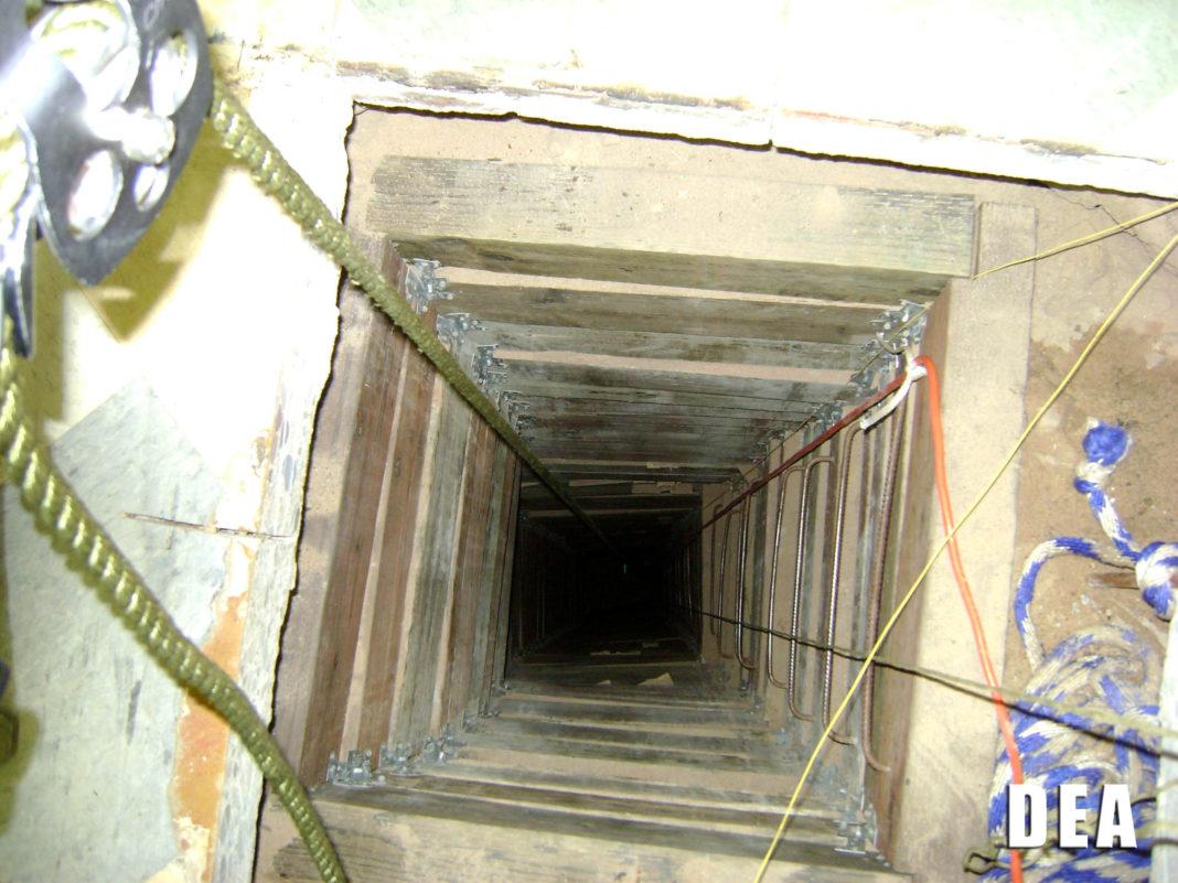 FILE: Drug tunnel found on the U.S. Mexico border. (Credit DEA/FILE)