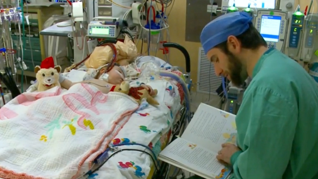 Hospital worker who reads to children fighting for life seeks book donations. (Credit: CBS Iowa)