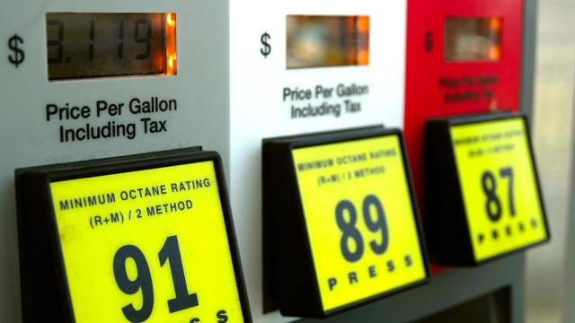 Gas prices at the pump. (Credit: CBS News)