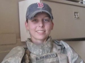 Sarah Blanchette, 35, while in the military. (Credit: WINK News)