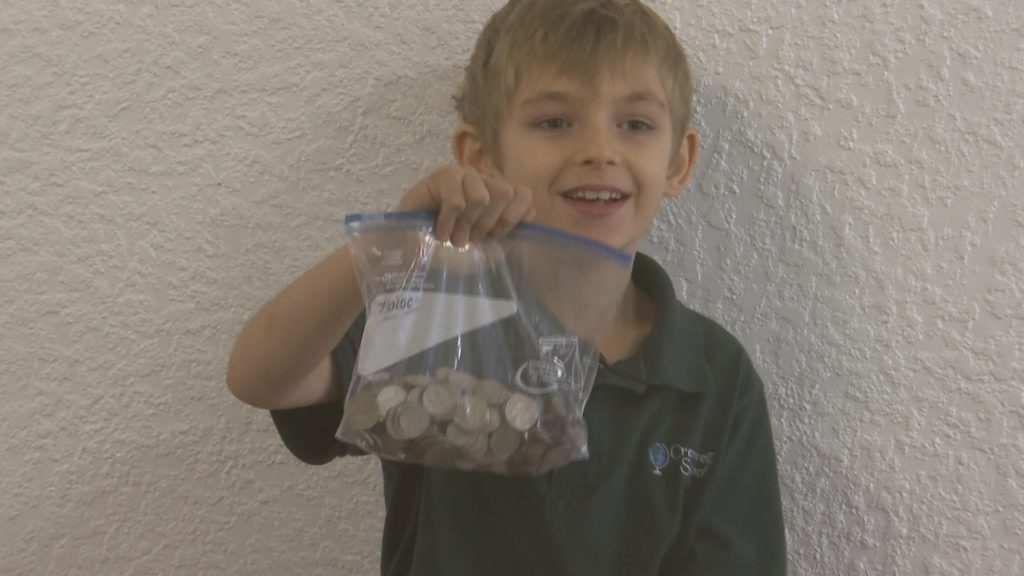 Crestwell School students collect change for SWFL cancer patients