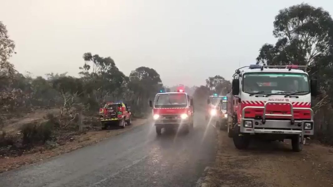 Severe thunderstorms are pelting some regions of Australia suffering from historic wildfires with powerful rain and large hail. (Credit: CNN)