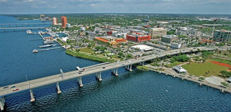 Ariel view of downtown Fort Myers. (Credit: Lee County)
