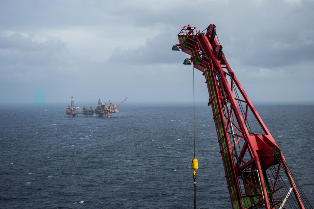 The Maersk Reacher rig, operated by Maersk Drilling Services A/S, stands in the Valhall field in the North Sea off the coast of Stavanger, Norway, on Wednesday, Oct. 9, 2019. The boss ofMaersk Drillingis in no rush to make acquisitions because he believes a rout in equity prices for offshore drillers has further to go. (Photographer: Carina Johansen/Bloomberg via Getty Images)