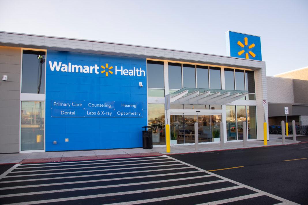 The entrance to Walmart's health center in Calhoun, Georgia. (Credit: Walmart)