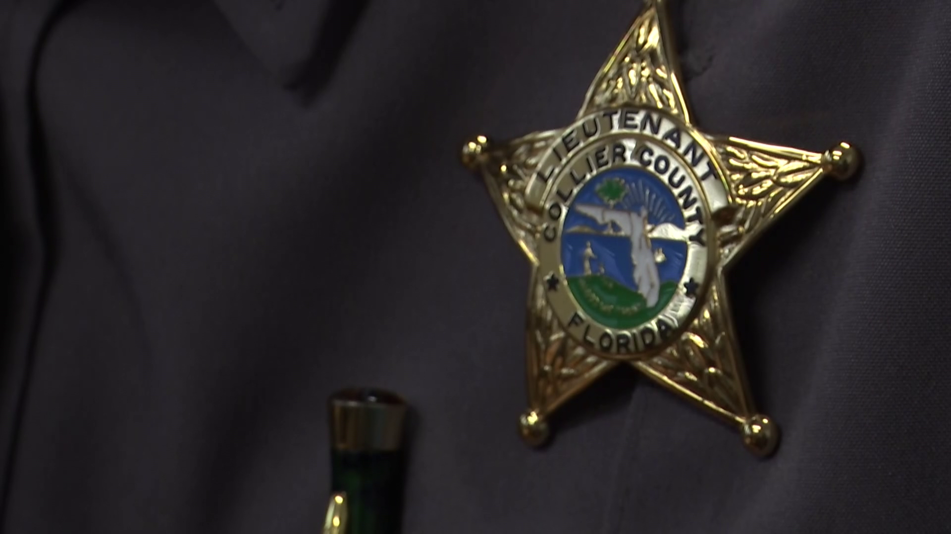 Collier County Sheriff's Office badge (WINK News)