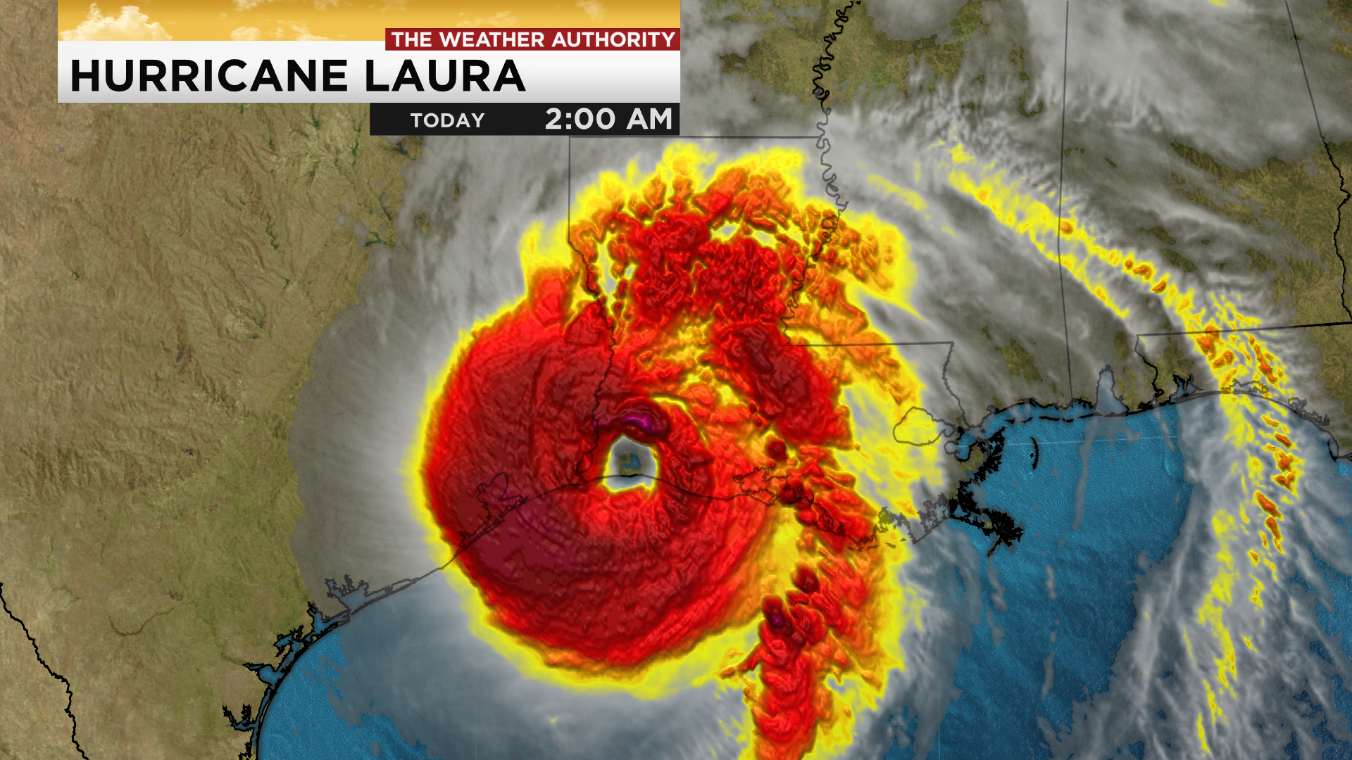 Category 1 Hurricane Laura batters inland Louisiana