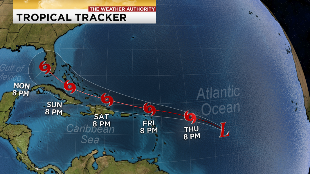 Tropical Depression 13 forms in the Atlantic late Wednesday