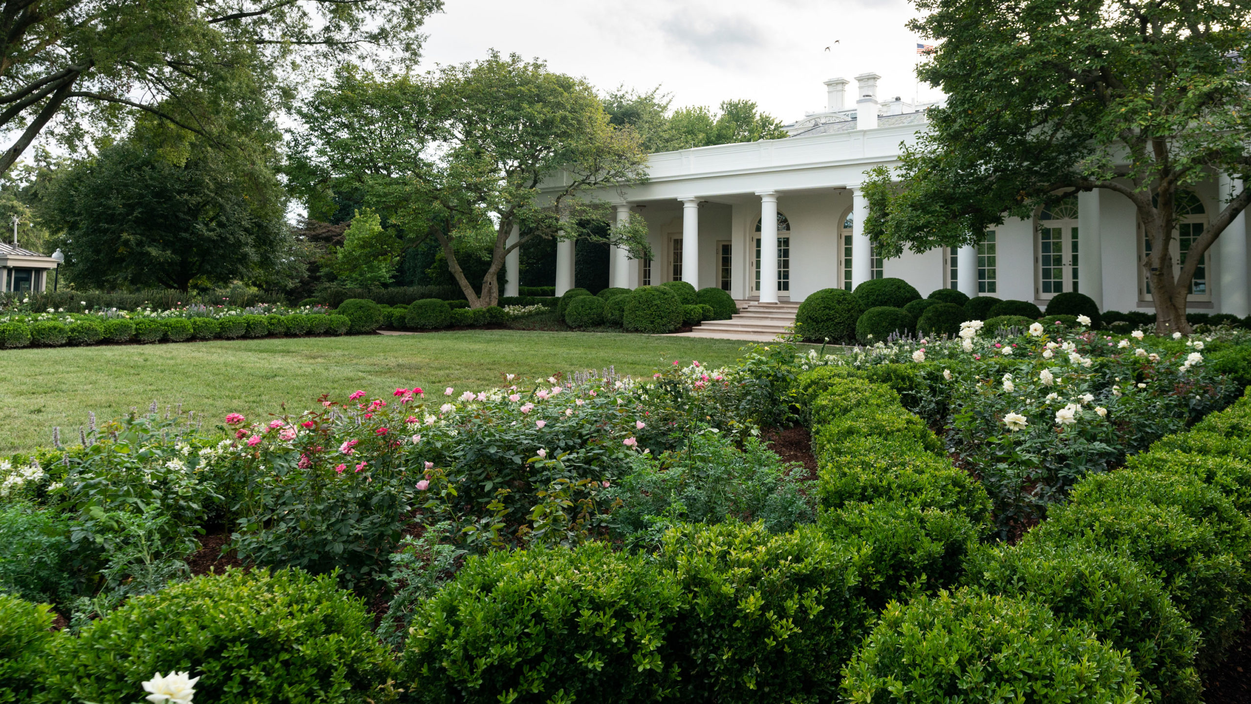 First Lady Melania Trump Unveils White House Rose Garden Restorations Ahead Of Rnc