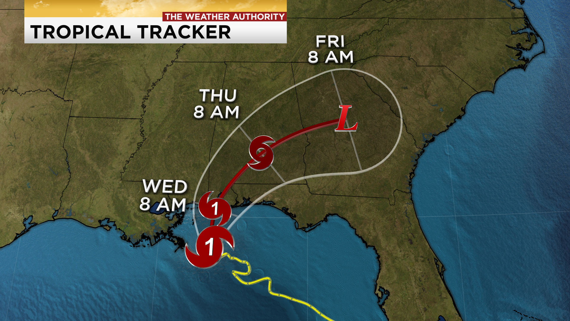 Hurricane Sally crawling towards the Gulf Coast; landfall ...Hurricane Sally Tracker