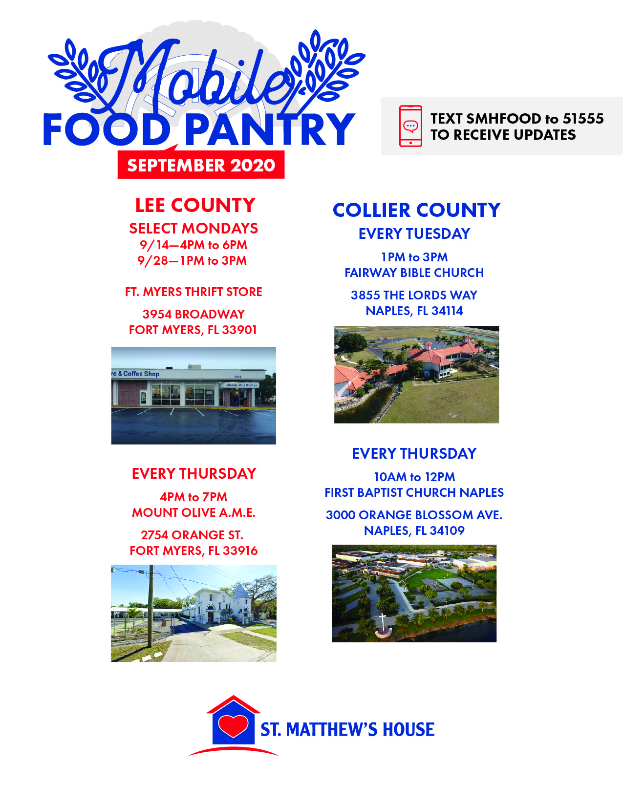 St Matthew S House Mobile Food Pantry Distribution For The Week Of Sept 14