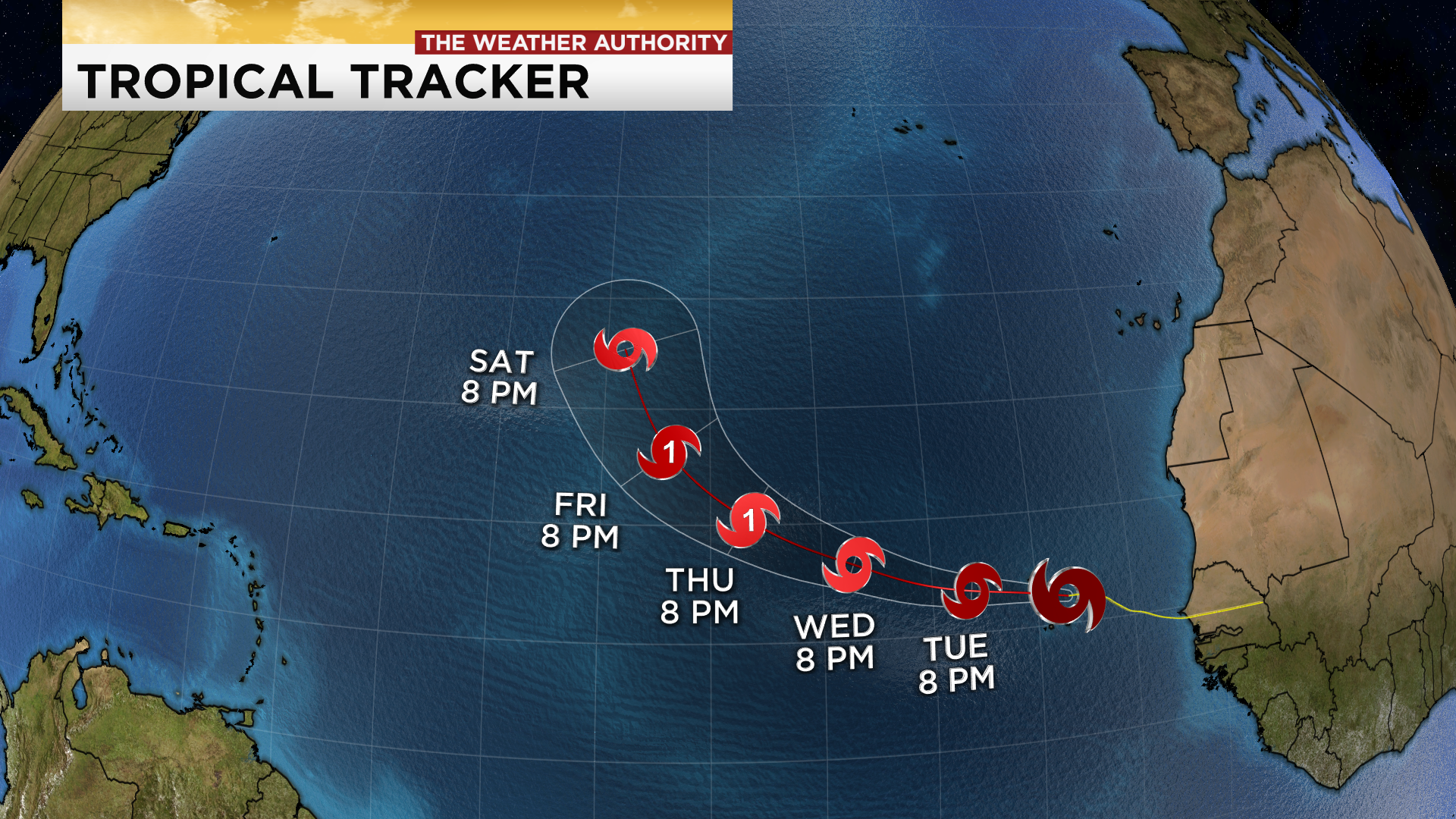 Tropical Storm Paulette and Rene churn in the AtlanticHurricane Sally Tracker