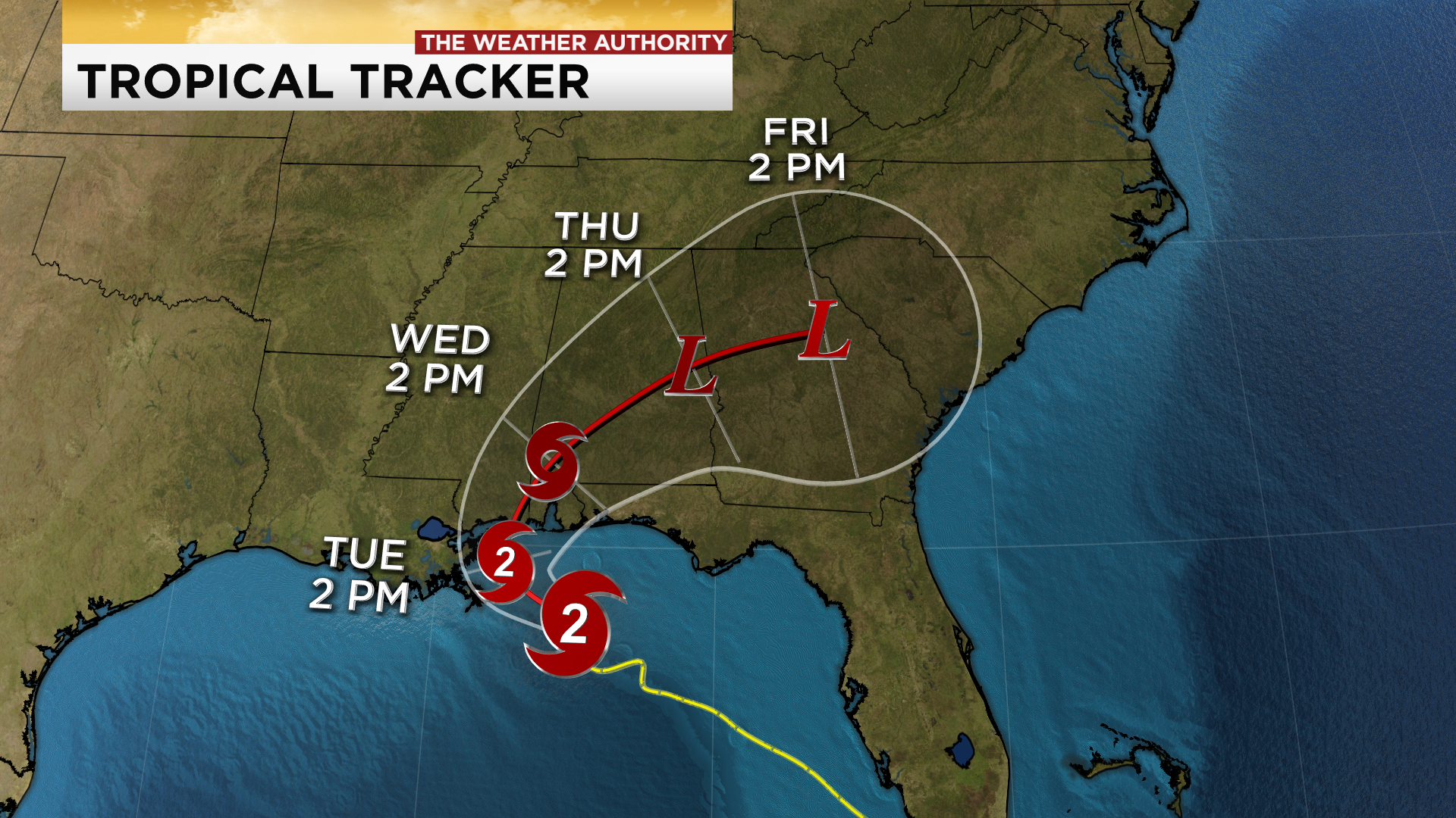 Sally rapidly strengthens to a Category 2 hurricane ... Hurricane Sally Tracker Today