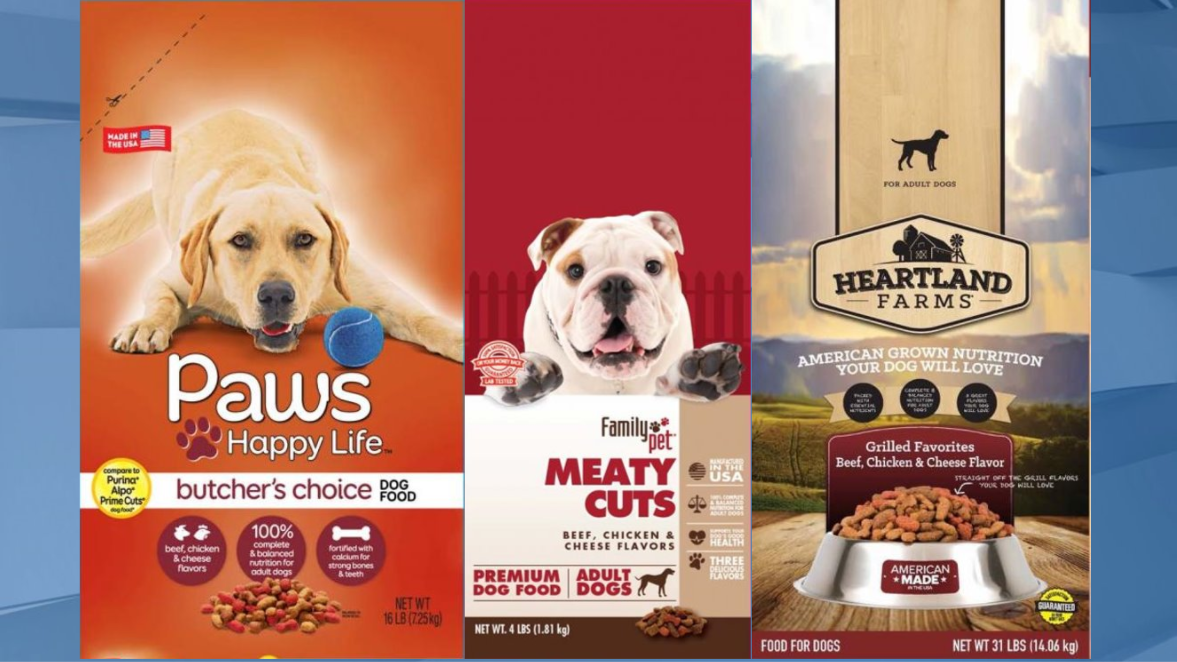 Three types of dog foods sold nationwide recalled over ...