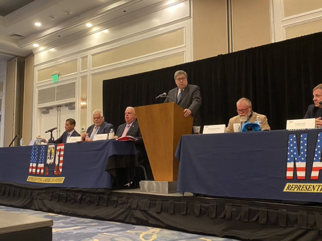 Attorney General Barr addresses police conference in Marco Island