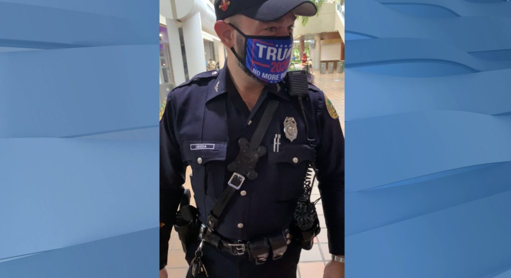Miami officer faces discipline for wearing Trump mask in uniform