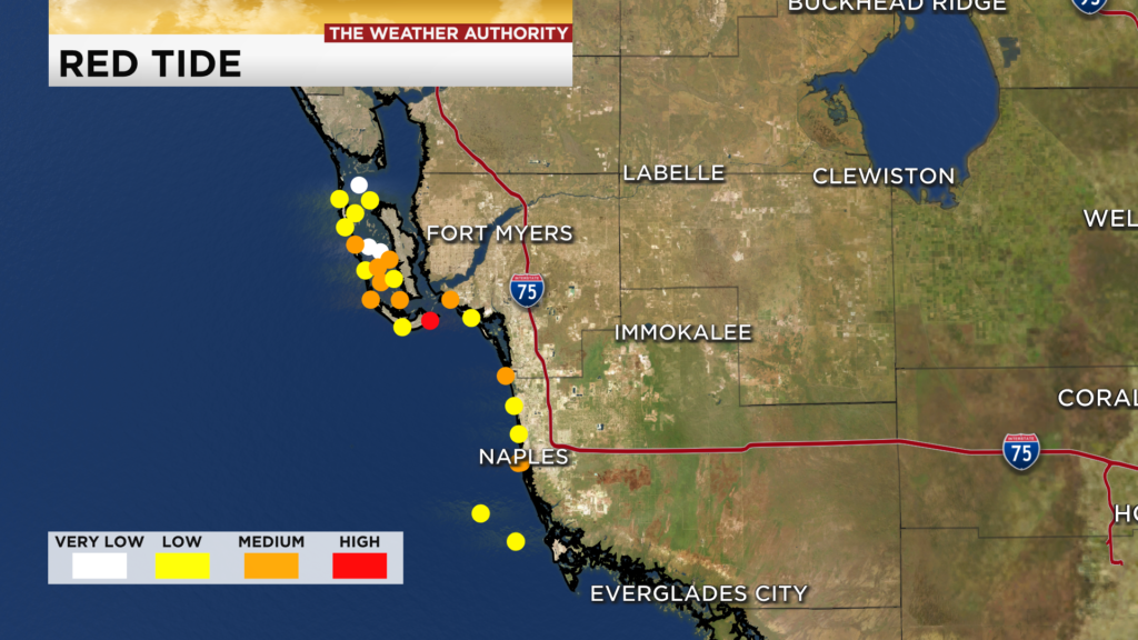 updated red tide map