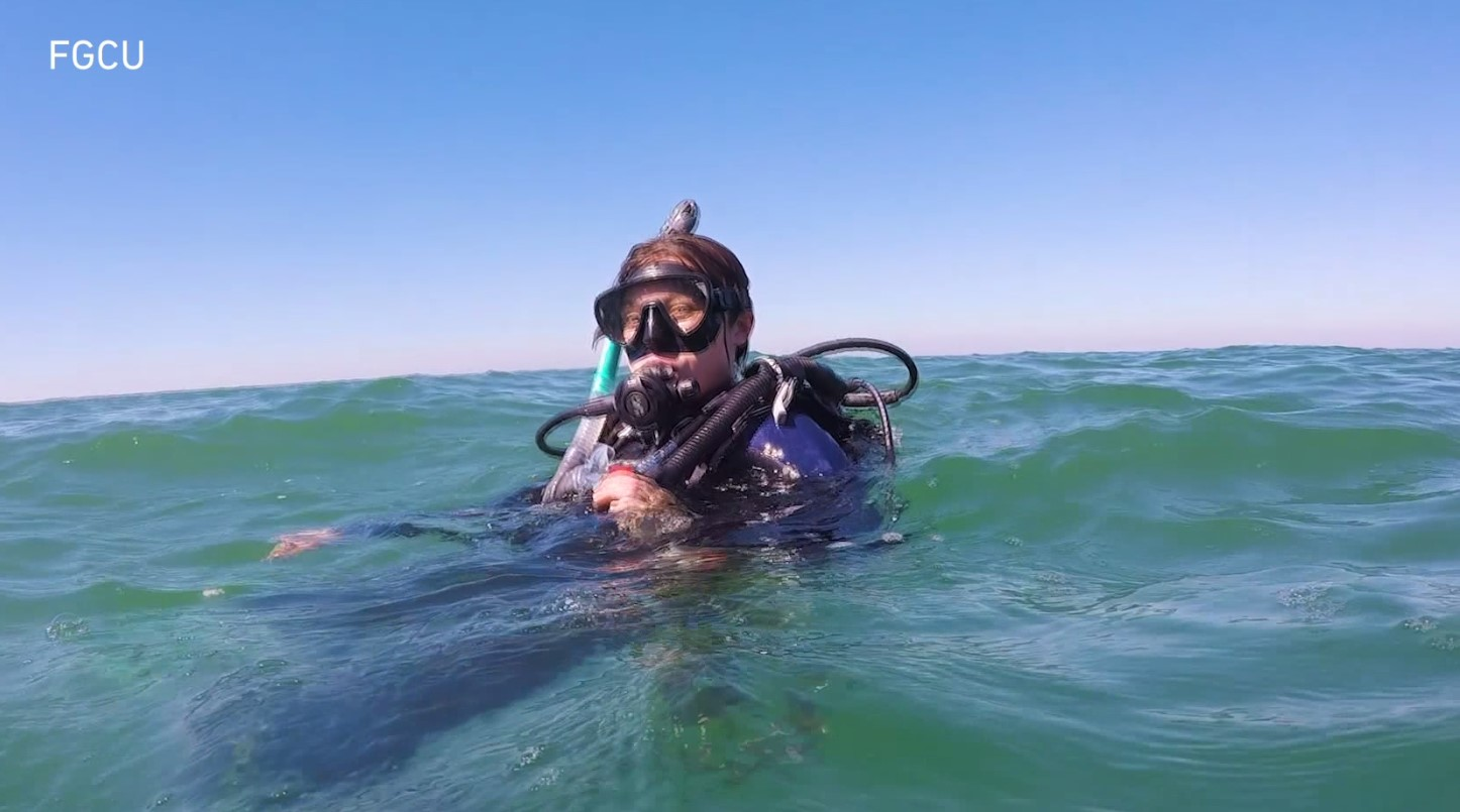 FGCU student diving head first into water issues