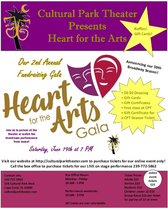 Cultural Park Theater\'s 2nd Annual Heart for the Arts Fundraising Gala