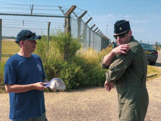 Ian Simpson and Maj. Thompson