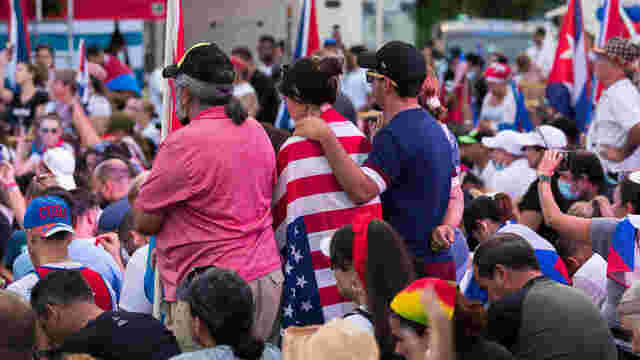 5 boats head to international waters in flotilla to show support for Cuban people