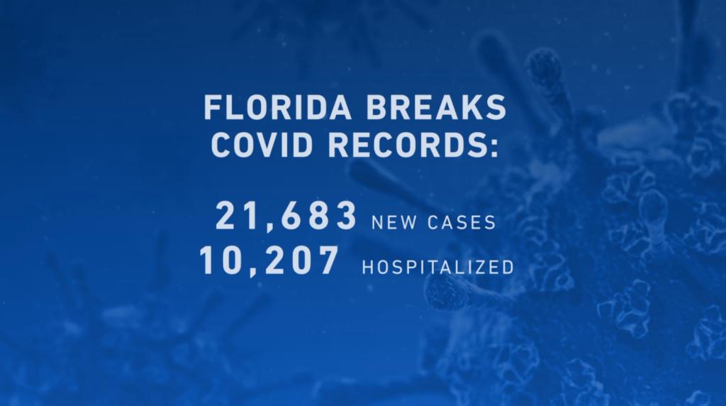Florida COVID records 2021