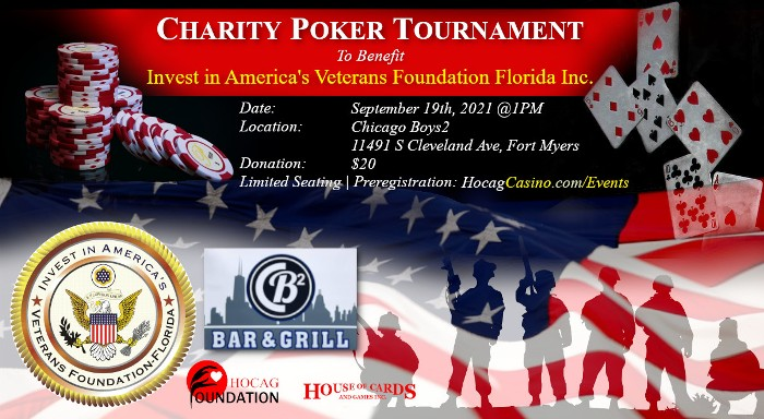 Charity Poker Tournament to benefit Invest in America's Veterans Foundation- FL