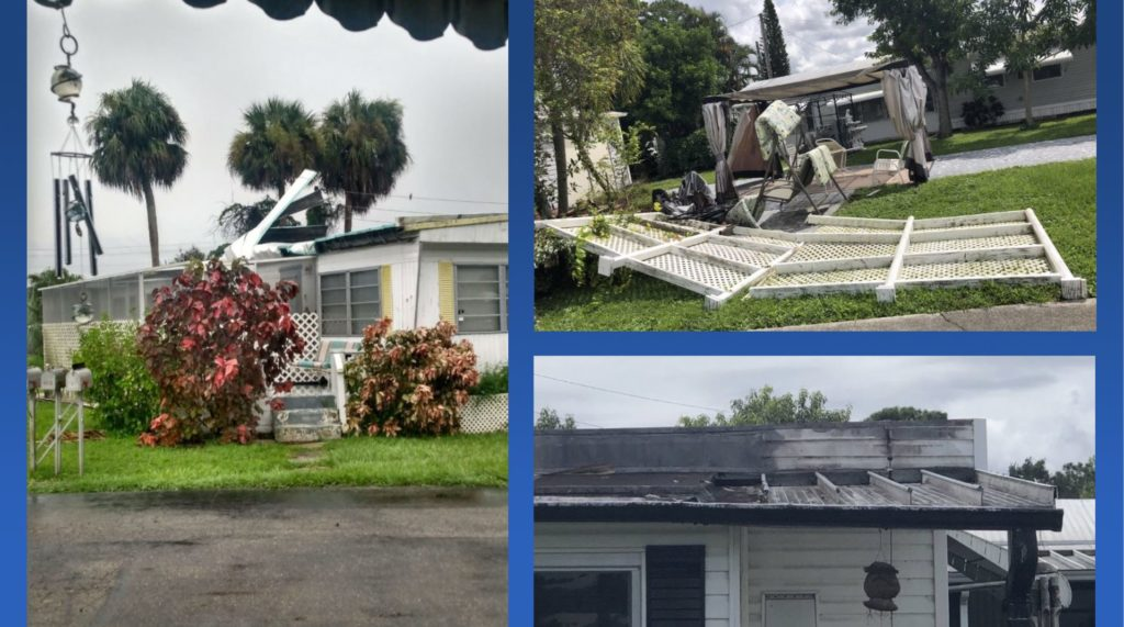 Mobile homes damaged in N. Fort Myers during Tuesday storms
