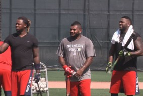 Hanley Ramirez, Pablo Sandoval, and David Ortiz.
