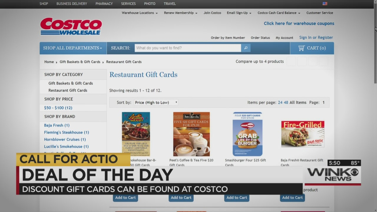 Deal of the Day: Discounted restaurant gift cards