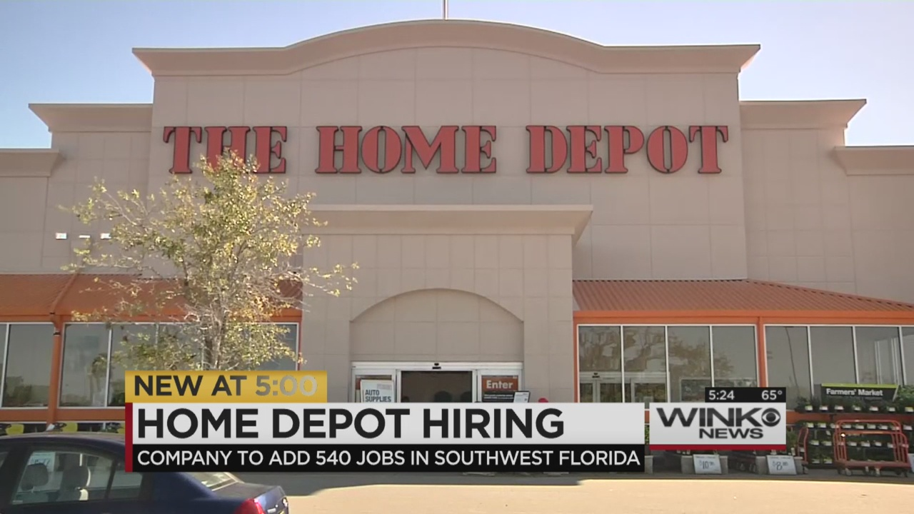 Home Depot Is Bringing Over 500 Jobs To Swfl Wink News