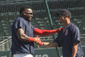 Betts says the Red Sox veterans have helped him immensely this spring.