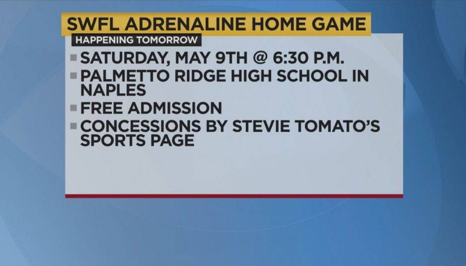 SWFL ADRENALINE SOCCER CLUB HOME OPENER