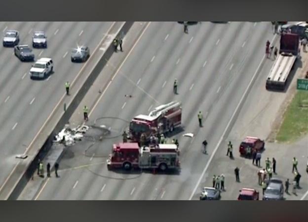 NTSB: Pilot reported problem before fatal crash into freeway