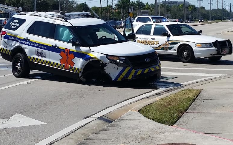 Collier EMS vehicle involved in crash