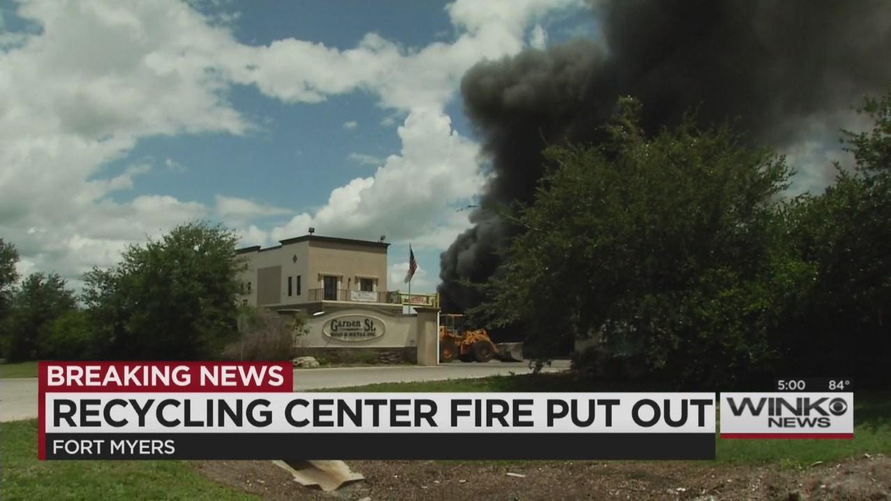 Crews Put Out Fire At Garden Street Recycling In Fort Myers