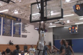 Lehigh's Emmitt Williams goes for a dunk.