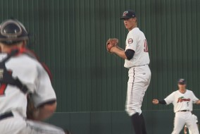 Aaron Slegers gave up 4 runs over 5 and 2/3rds innings.