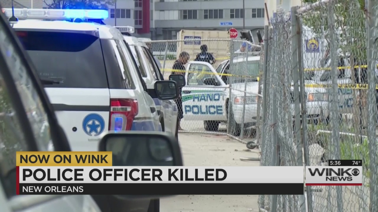 New orleans police officer killed in patrol car wink news for Police orleans