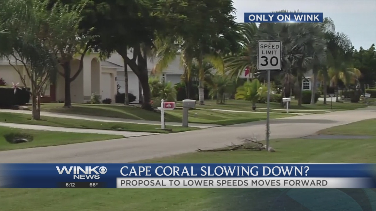 Lower speed limit proposal heads to Cape Coral City Council